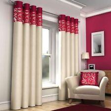 Rideaux œillet supérieur rouges pour la maison