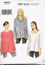 VOGUE SEWING PATTERN 8952 MISSES SZ 16-26 TUNIC W/ SHAPED HEMLINE IN PLUS SIZES