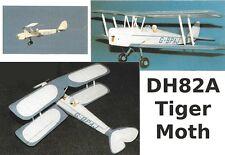 "Model Airplane Plans (RC): DH82A Tiger Moth 32½"" for .55-.8cc (½A) by Boddington"