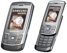 Téléphones mobiles Bluetooth argentés avec écran couleur