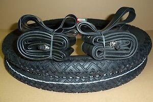 Set 2x Reifen 2x Schlauch 2,25-16 / 20 x 2,25 für DDR Fahrrad Moped Anhänger MKH