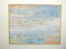 """Lilian Lee """"Abstract"""" Oil Painting on Canvas, 1974 - Signed, 23"""" x 30"""" - Cool"""