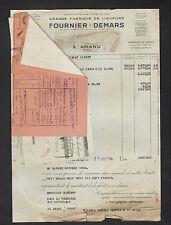 """SAINT-AMAND-MONTROND (18) DISTILLERIE / LIQUEUR & CASSIS """"FOURNIER-DEMARS"""" 1954"""