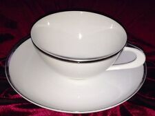 ROYAL PLATINUM COFFEE/TEA CUP AND SAUCER JAPAN THREE CROWN FINE CHINA