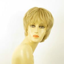 perruque femme 100% cheveux naturel courte blonde ref DANNY 22
