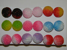 BEAUTIFUL HALF BALL  EARRING STUD 9 COLOURS WHOLESALE