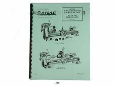 Atlas Lathe 618 Amp No 12a 16a Armature Lathe Instruction Amp Parts Manual 266