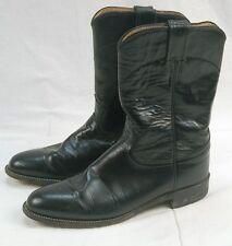 Justin L3703 Ladies 9A Classic Black Kipskin Western Roper Boots #GW83