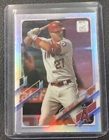 2021 Topps Mike Trout Rainbow Foil Silver Refractor Parallel #27 Angels SP MVP