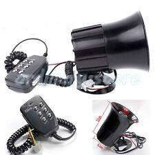 12V Car Motorcycle Alarm Warning Siren Horn Megaphone 6 Tone Loud Speaker + MIC