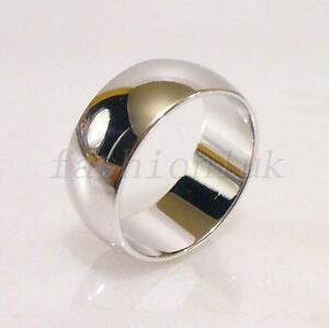 Classic Wedding Band Ring White Gold Plated Width 2mm to 10mm Size K L O T R V W