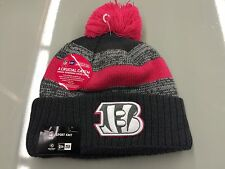 Cincinnati Bengals Knit Breast Cancer BCA New Era Hat Cap Toque Beanie Player