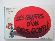 GASTON LAGAFFE N°5 LES GAFFES D'UN GARS GONFLE EO1967 TBE/TTBE EDITION ORIGINALE