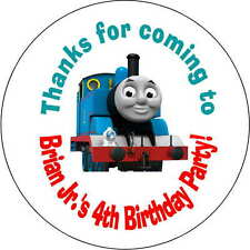 12 stickers Birthday Party 2.5 Inch Personalized  thomas the train