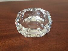 Baccarat French Crystal Glass Diamond Cut Ashtray Dish