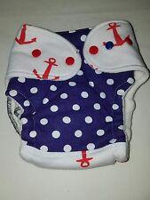 Baby cloth diaper nautical design by modern hippie co.