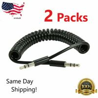 Kasonic 3.5mm Auxiliary Audio Cable Male-to-male Stereo Coiled Silicone White