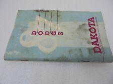 87 Dodge Dakota Owners Manual Guide Booklet 1987