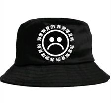 SAD BOYS fisherman bucket sad face 666 aesthetic hat