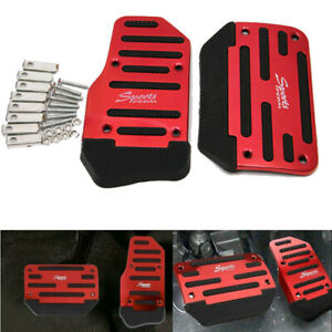 Universal Red Non-Slip Car Interior Gas Foot Rest Pedal Pad Covers Accessories