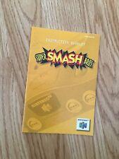 Super Smash Bros Instruction Manual Only N64 Nintendo 64 L@@K