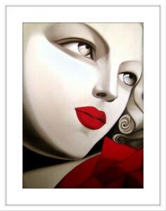 Fine Art Prints, Tamara de Lempicka, Red Lips, Remastered, Limited Edition