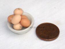 Media docena de huevos miniatura 1/12 casas muñecas