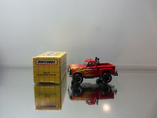 1993 Matchbox Ford Flare Side Pickup - Red W/ Flames - Mint Loose W/ Box 1/76