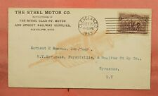 1893 STEEL MOTOR CO STREET RAILWAY SUPPLIES ALLOVER ADVERTISING CLEVELAND OH