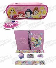 (9ct) Disney Princess Teen Girls Stationary Set + Pencil Pouch Combo