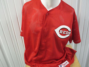 VINTAGE MAJESTIC AUTHENTIC COLLECTION Cincinnati Reds SEWN LARGE JERSEY PREOWNED