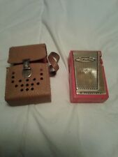 Vintage Silvertone 6 Transistor Radio With Leather Case