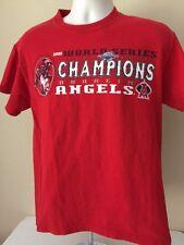 Anaheim Angels T-Shirt 2002 World Series Champions Los Angeles Medium