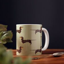 Chocolate and Tan Dachshund Mug - Unique Sausage Dog Gift