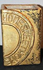 Blumentopf 'HOME-SWEET-HOME' Orchideentopf Keramik Übertopf Gold eckig 10cm