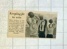 1955 Woolwich Table Tennis Club Daphne Deards Greta Cardwell And Marina Kennell