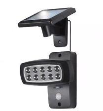 Outdoor Solar Powered LED Solar Spotlight with Sensor Black Automatical New
