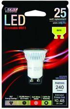 *NEW* LOT (3) Feit Electric LED Dimmable GU10 MR11 25 Watt Bulb 120V 4w 240 Lum