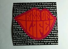 SUPERGRASS IS 10 KISS OF LIFE LIPS B&W BLACK 4x4 MUSIC STICKER