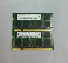 Qimonda 2GB 2x1GB DDR2 PC2-5300S 2Rx8 LAPTOP MEMORY RAM