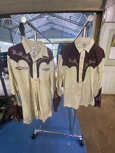 Mid-West Garmet Co Western Embroidered Shirt Men's L , Women's M