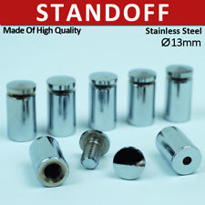 10X Stainless Stand Off Fixings Glass Sign Wall Support Standoff Pins 13X20mm