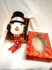 Vintage Snowman Front Door Hanger in Original Box