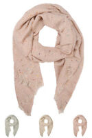 ScarvesMe Women's Warm Winter Speckled Oblong Scarf with Frayed Edge