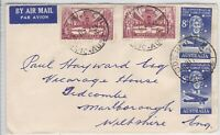 APH1309) Australia 1958 small Commercial airmail cover to UK. Bears 8d Kingsford