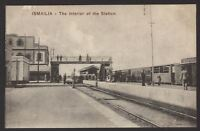 "Egypt. Ismaïlia  ""City of Beauty & Enchantment"" The Station Interior - Postcard"