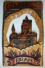 Wooden Plaque Hand Carved Romania Brah Wall Hanging Collectible Home Decor 19""