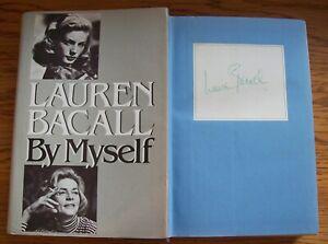 Lauren Bacall Signed 'BY MYSELF' Hardback Book AFTAL/UACC RD