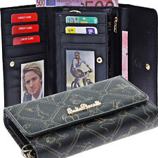 Damen Geldbörse G001 Black Giulia Pieralli Portemonnaie Frauen Portmonee Luxus