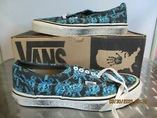 Vtg 90's Vans Pirate Skull Canvas Shoes Usa Men's 7 1/2 Dead Stock Original Box